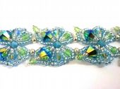Beadwork Butterfly Bracelet Jewellery Kit with SWAROVSKI Blue tones